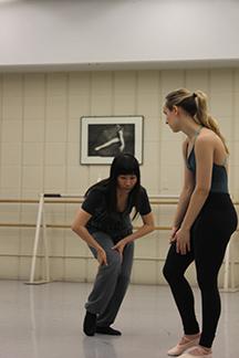 Working on choreography photo:  A. khanani Caporaletti